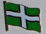 Devon County Flag Enamel Pin Badge